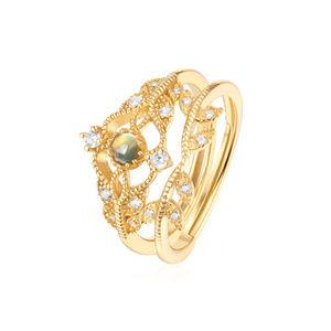 Opal Engagement Ring Set Sterling Silver Vintage